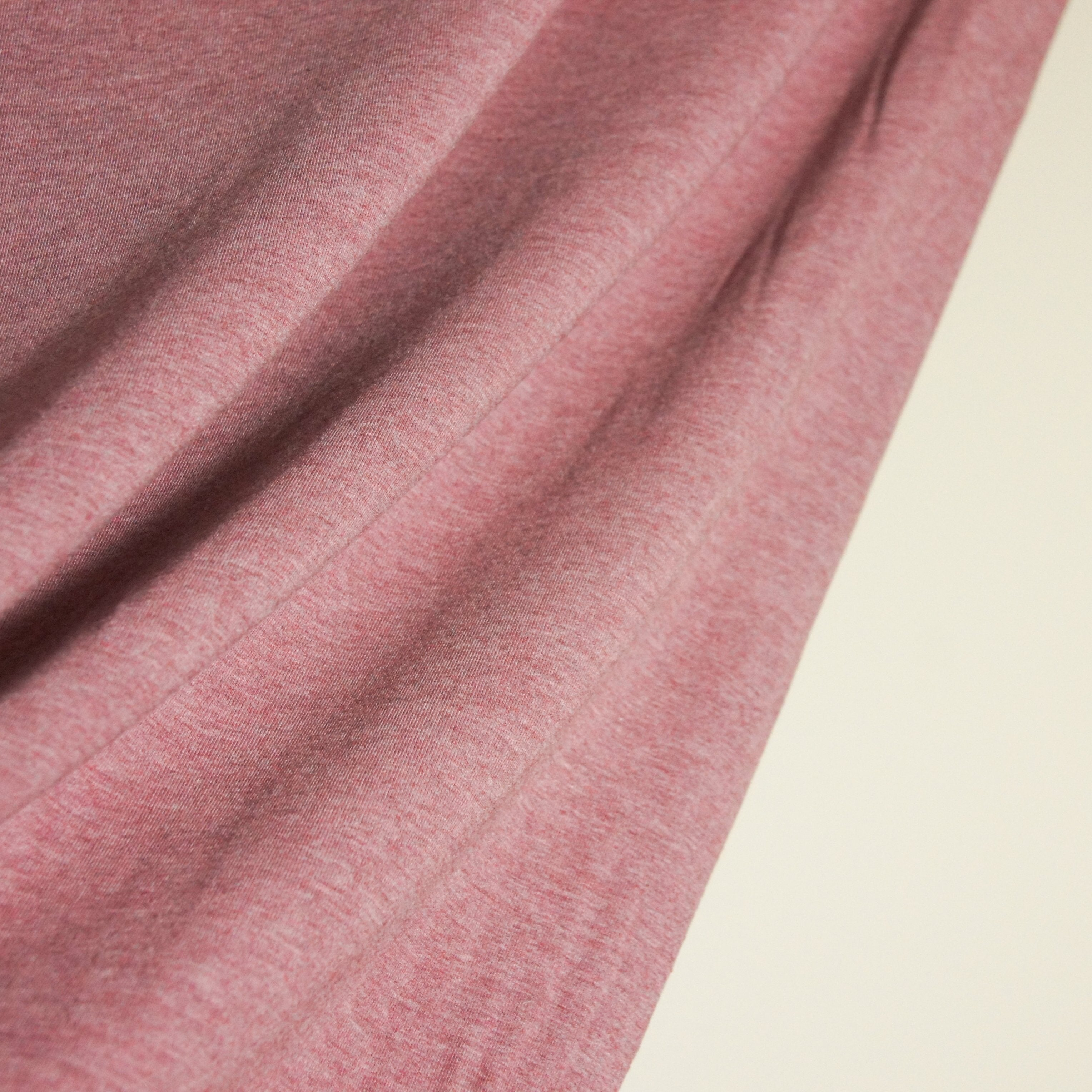 Bamboo Cotton Spandex Jersey Fabric - Heather Rose Brown - Knit - Earth Indigo