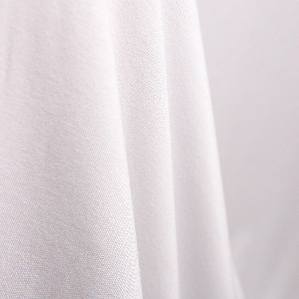 Tencel Organic Cotton Spandex Jersey - White - Knit - Earth Indigo