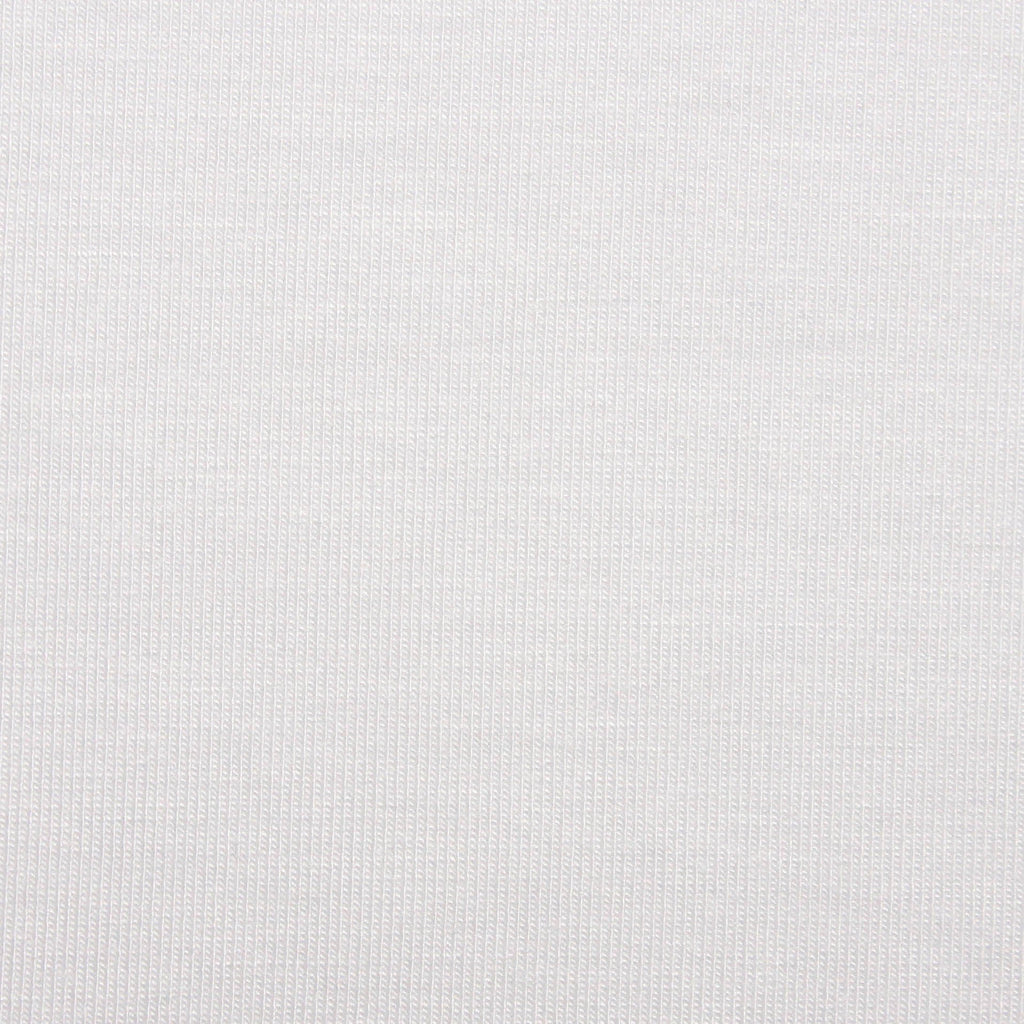 Bamboo Cotton Spandex Jersey Fabric - White - Knit - Earth Indigo