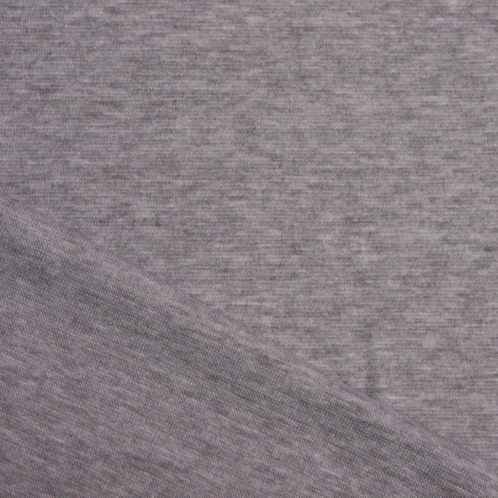 Bamboo Cotton Spandex 1x1 Rib Knit - Light Grey Mix - [product_typpe] - Earth Indigo