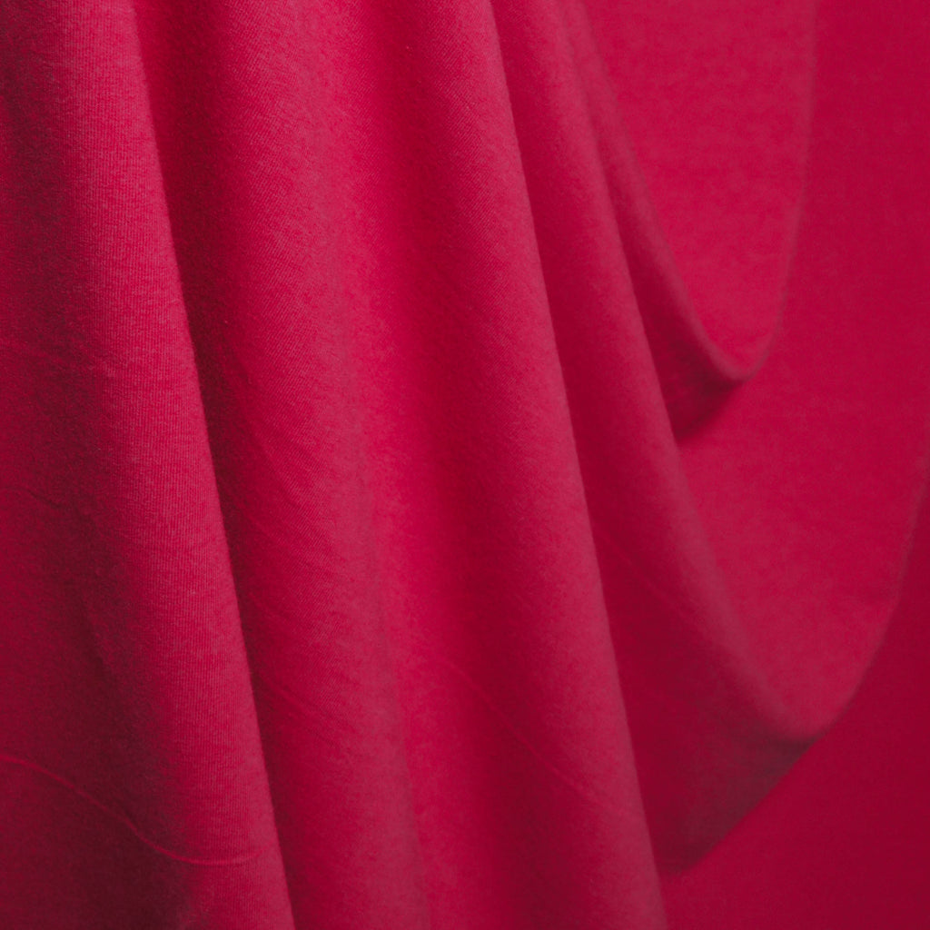 Bamboo Cotton Spandex French Terry Fabric - Jazzy Pink - Knit - Earth Indigo
