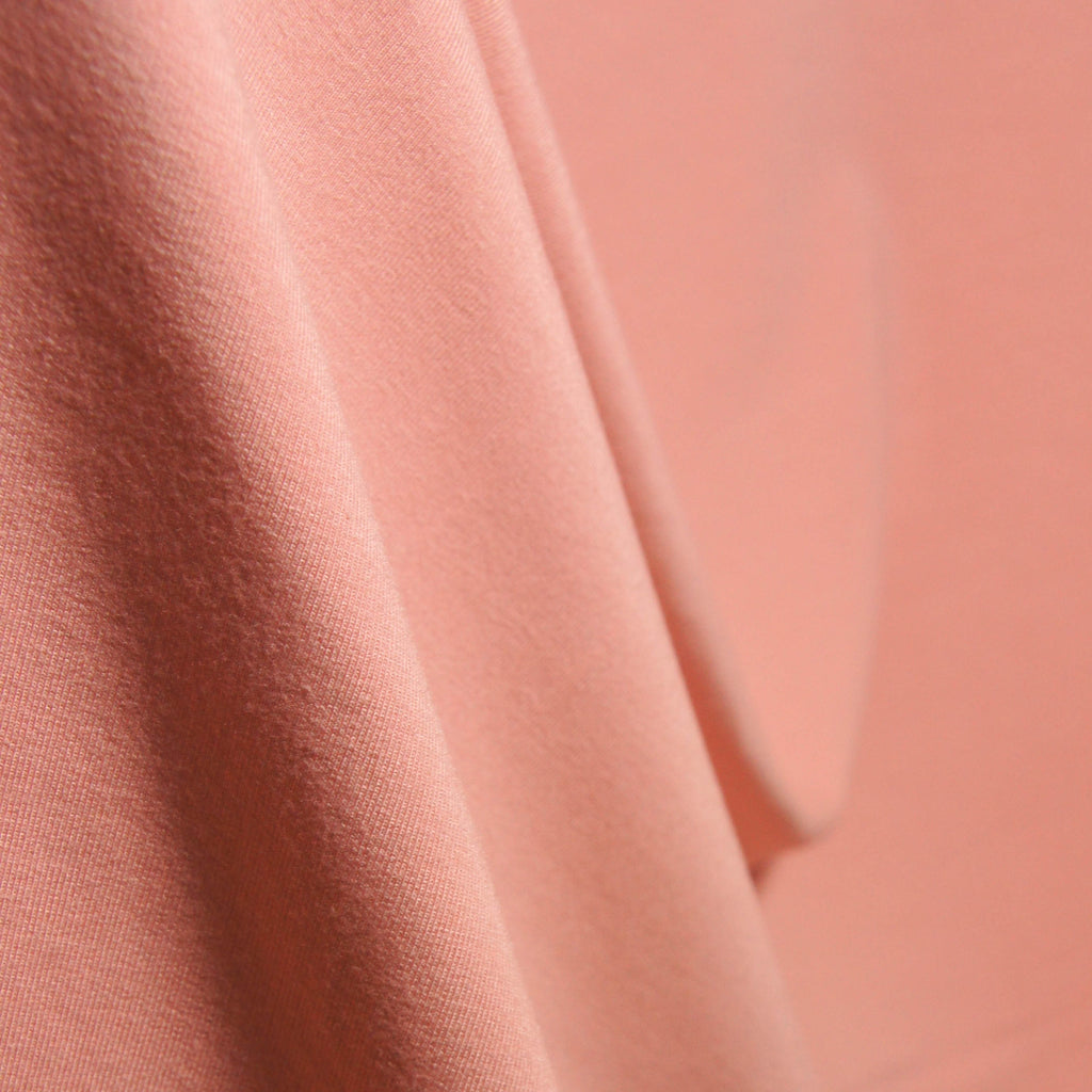 Tencel Organic Cotton Spandex French Terry Fabric - Mellow Rose - Knit - Earth Indigo