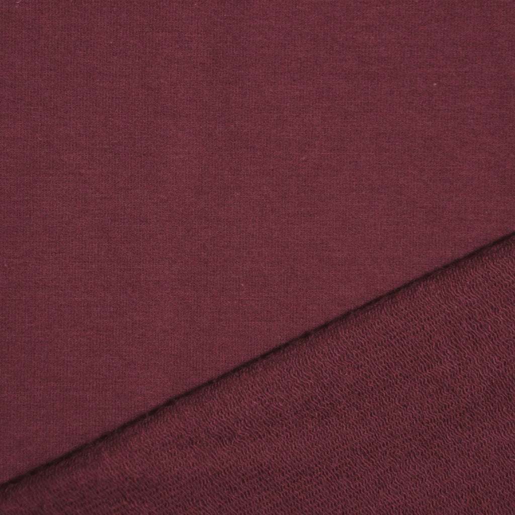 Bamboo Cotton Spandex French Terry - Heretic Red - [product_typpe] - Earth Indigo