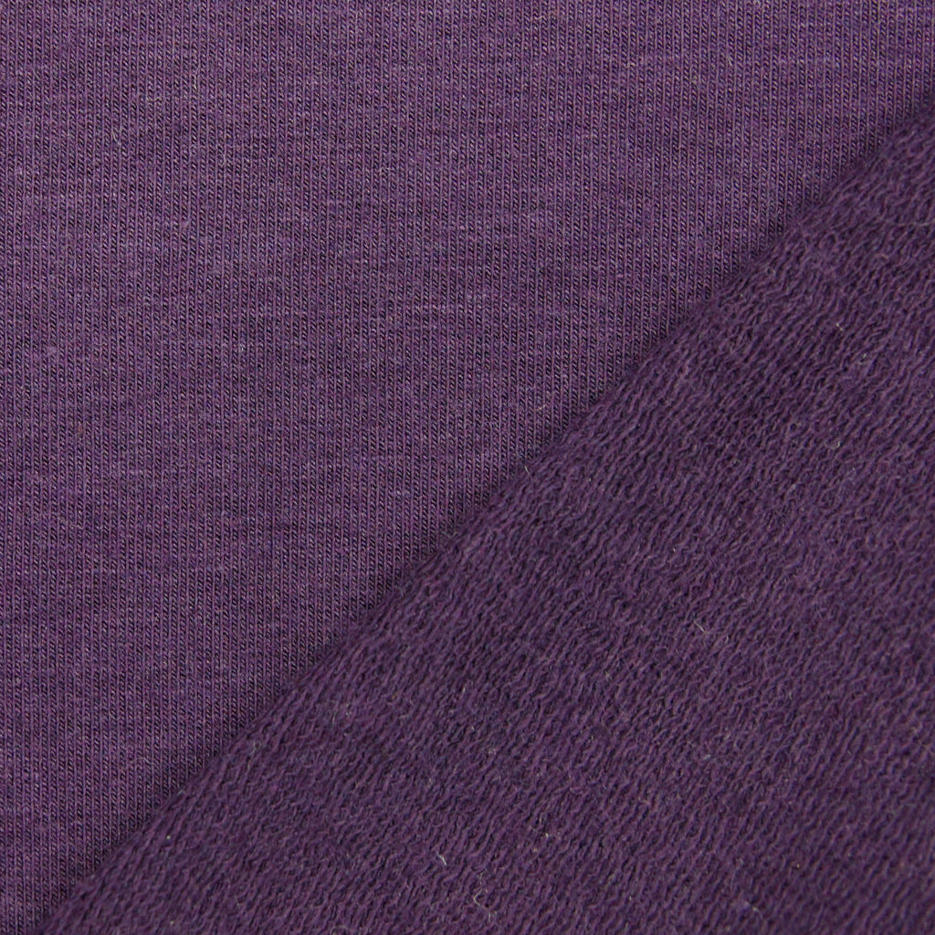 Tencel Organic Cotton Spandex French Terry Fabric - Plum - Knit - Earth Indigo