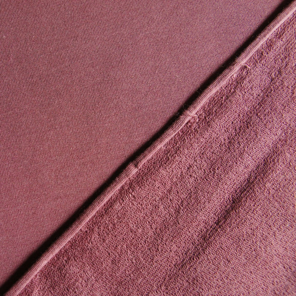 Tencel Organic Cotton Spandex French Terry Fabric - Rose Brown - Knit - Earth Indigo