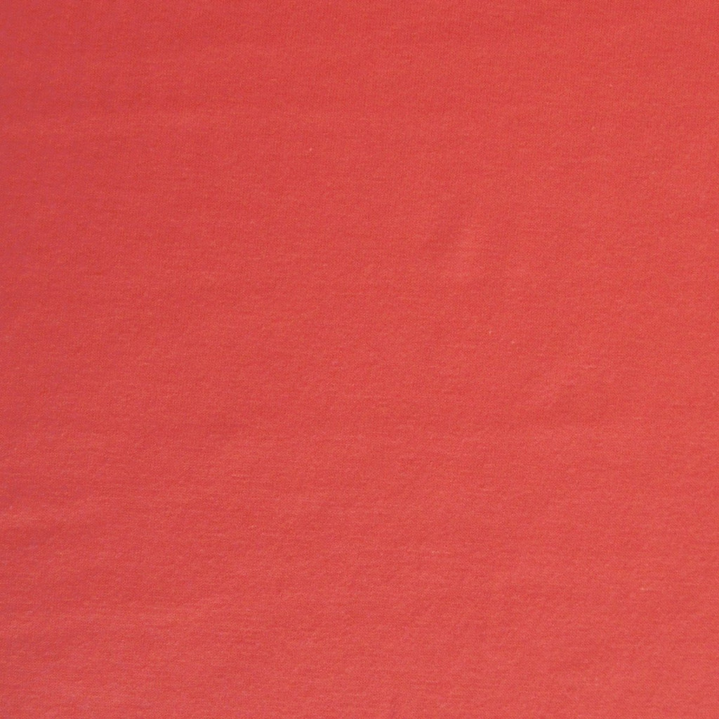 Bamboo Cotton Spandex Jersey Fabric - Hot Coral - Knit - Earth Indigo