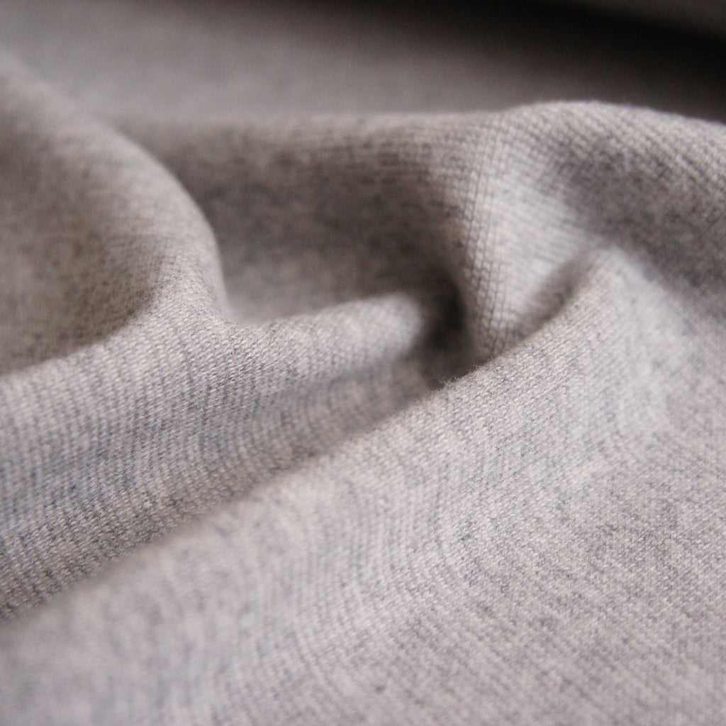 Cotton Spandex 1x1 Rib Knit - Light Grey - Knit - Earth Indigo