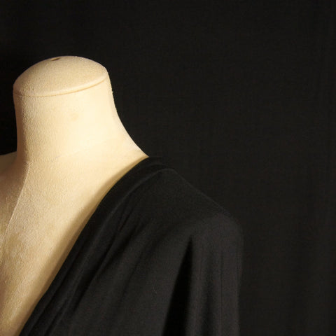 Bamboo Cotton Spandex Jersey Fabric - Black
