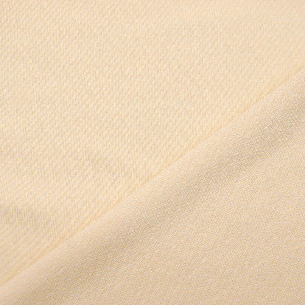 Tencel Organic Cotton Spandex French Terry Fabric - Natural