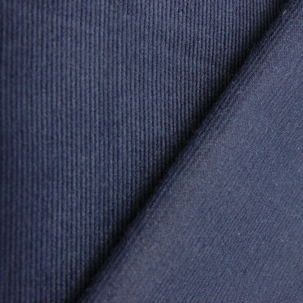Japanese Lightweight Cotton Corduroy - Navy - woven - Earth Indigo