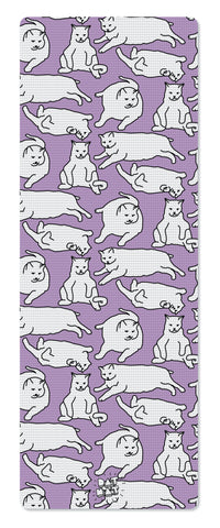 Fat Cat PURPLE Yoga Mat