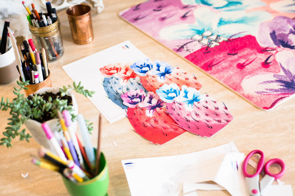 Prickly Pear Water Color Mat - DAT MAT x Paige Poppe Artist Collab