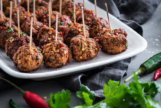 Berkshire Pork and fennel meatballs