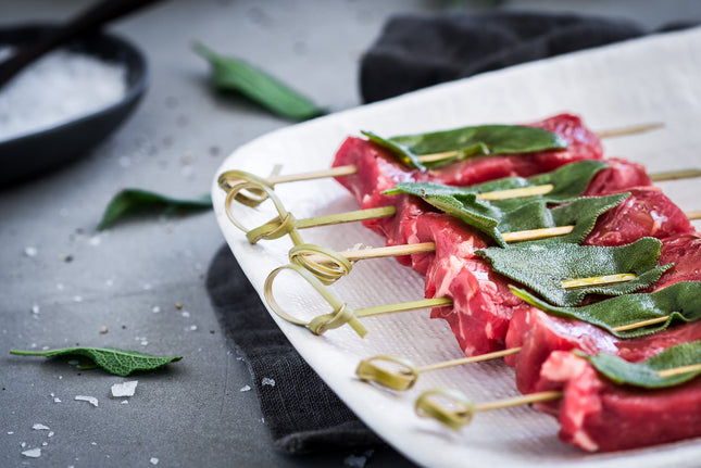 Ready to Cook - Beef Tenderloin and Sage Skewers