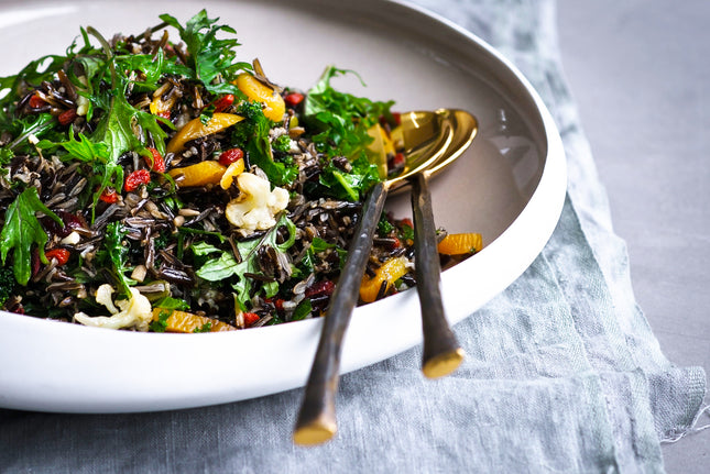 Raw Kale & Wild Rice Salad