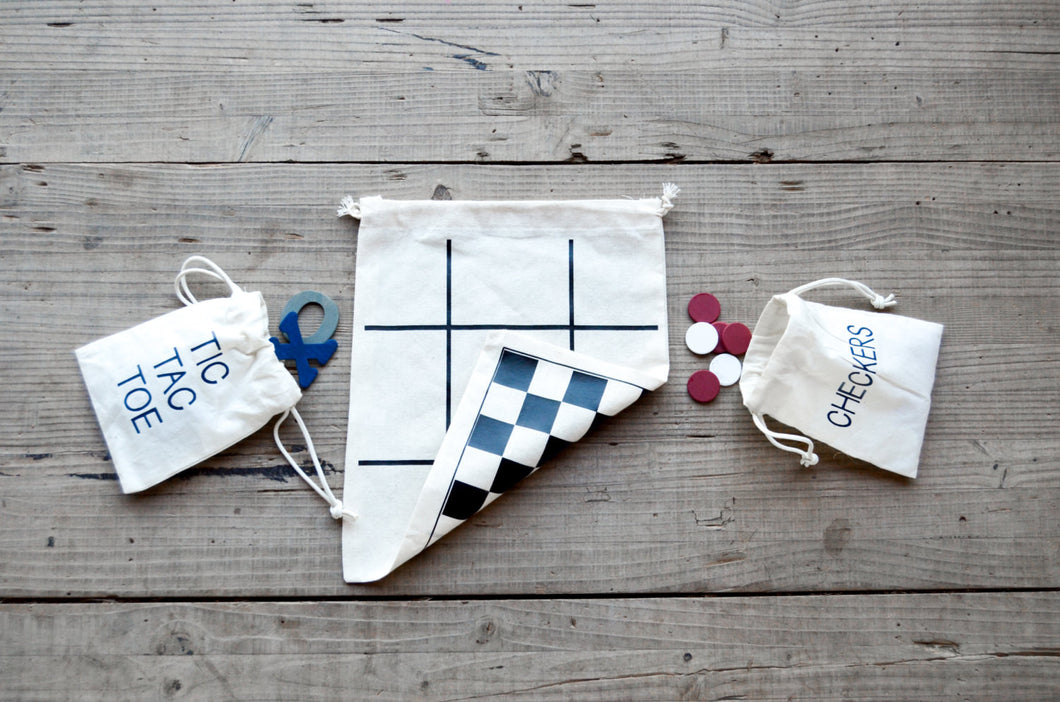Tic Tac Toe & Checkers Travel Game