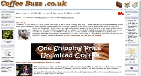 CoffeeBuzz.co.uk Old Web Site Look