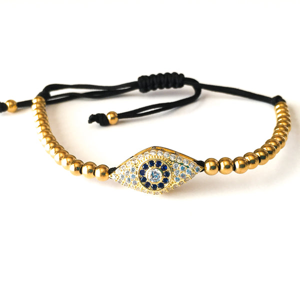 Gold Evil Eye Macrame