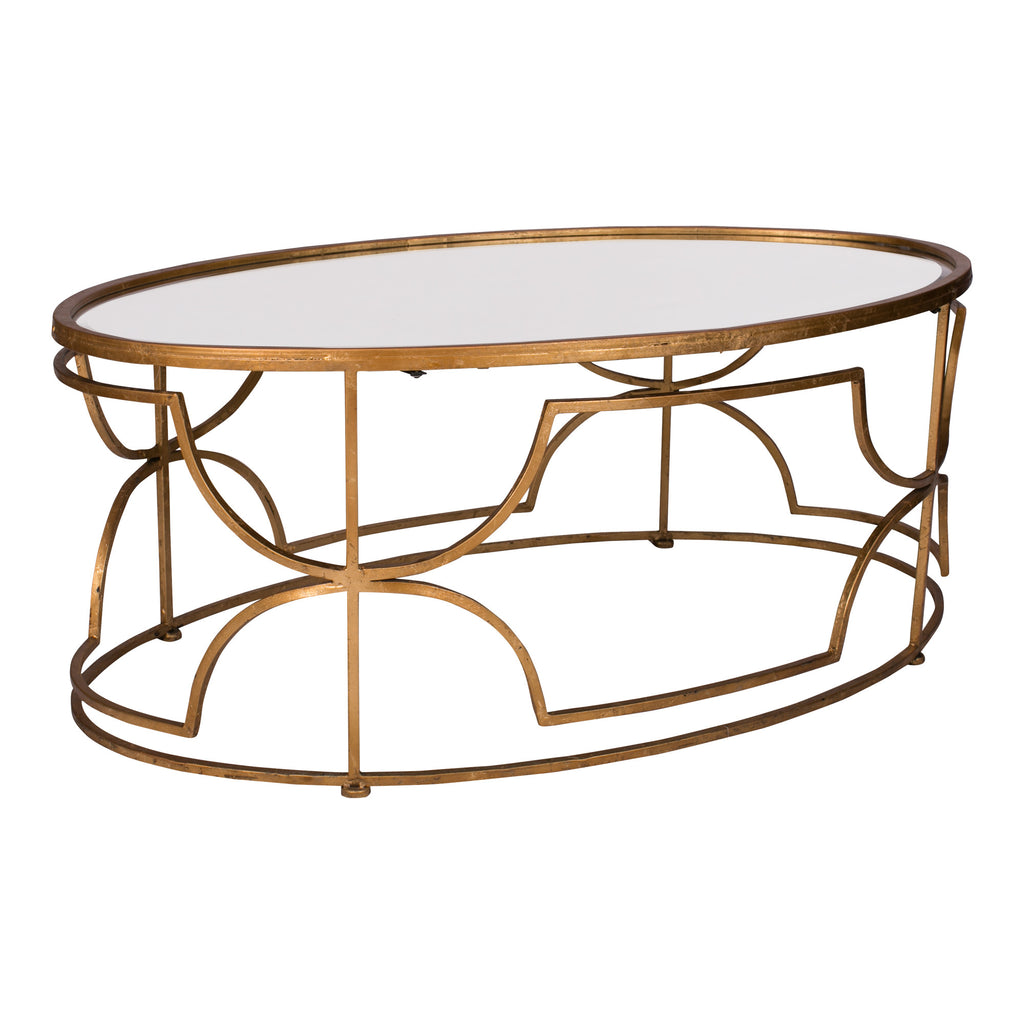 Gold & Mirror Coffee Table