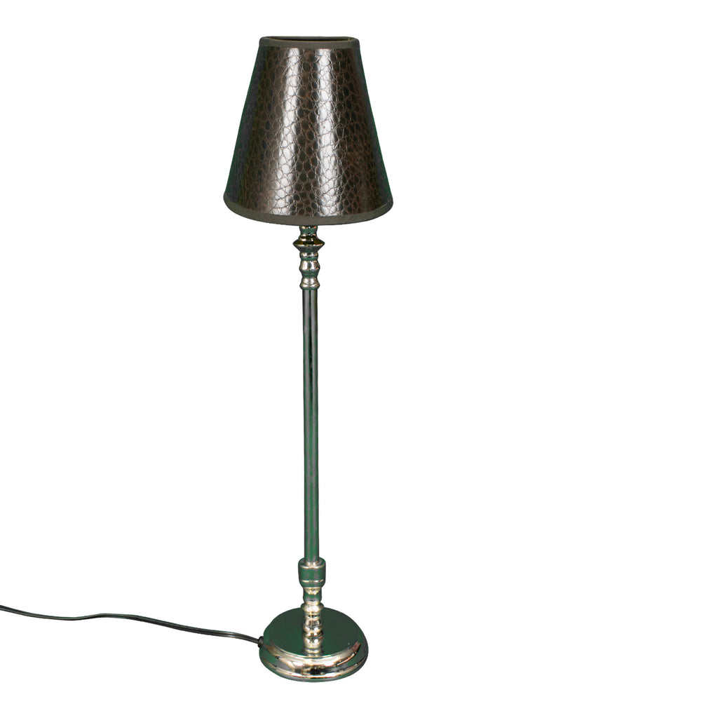 Lamp with Brown Crocodile Shade