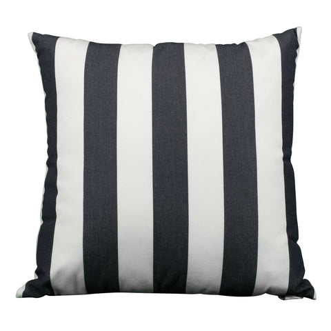 Navy & White Squares Pillow