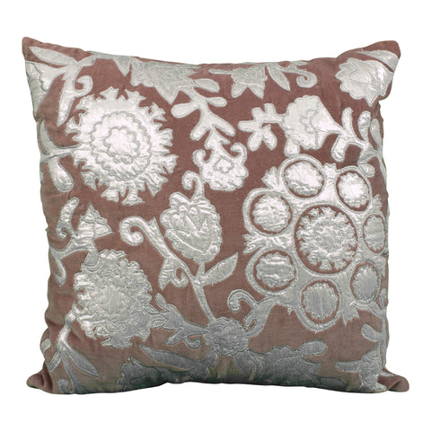 Chocolate Brown Sequin Covered Pillow