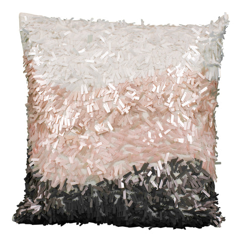 Chocolate Fringe Pillow