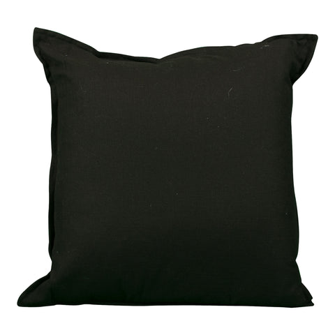 Lumbar Black & White Embroidered Pillow