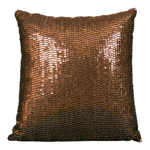 Embroidered Burlap Pillow