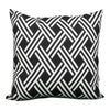 Black & White Lattice Oversized Pillow