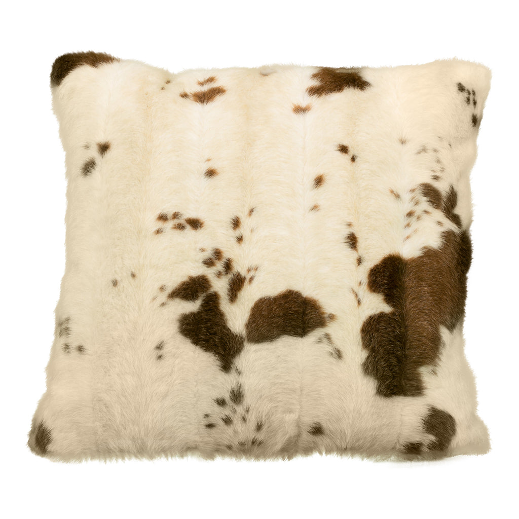 Brown & Cream Cow Print Pillow