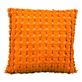 Orange Felt Circle Pillow