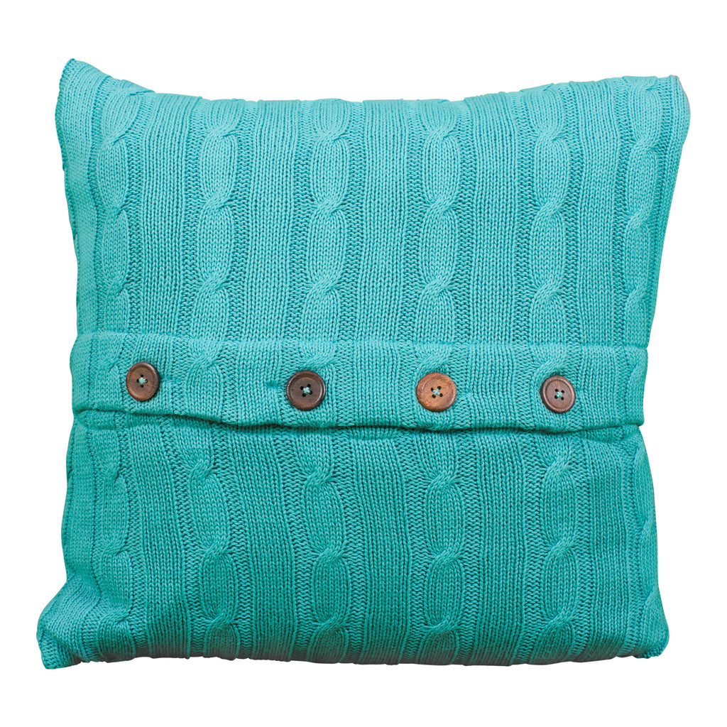 Teal Sweater Pillow