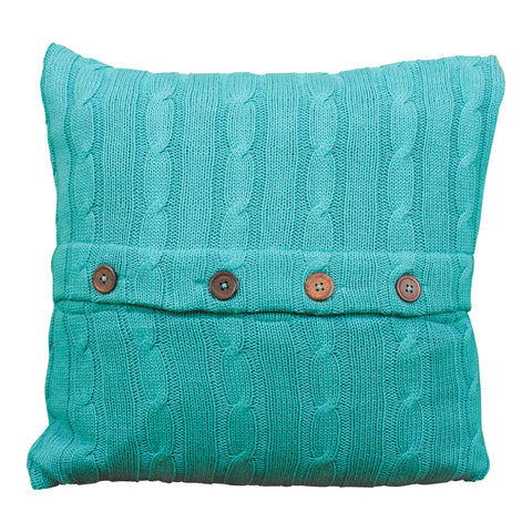Aqua & White Patterned Pillow