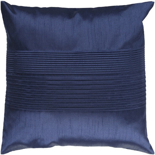 Navy Pleated Pillow