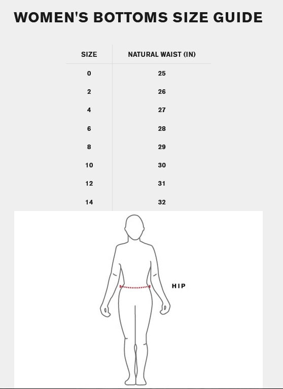 Chrome Womens Sizing Guide