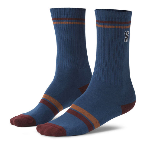 Chrome Sutro Crew Indigo/Brick Socks
