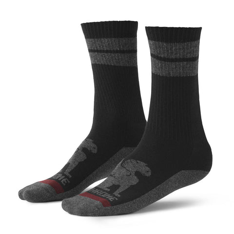 Chrome Larkin Crew Black/Grey Stripe Sock