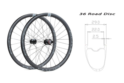 BOYD 36mm Carbon Disc wheelset