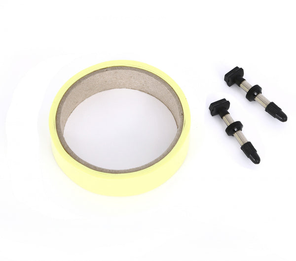 Tubeless Kit Valves & Tape MSC Components