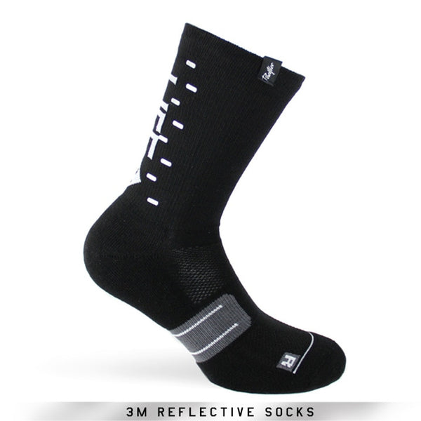 Pacific and Co Socks - Reflective Speed Slow Life - Black