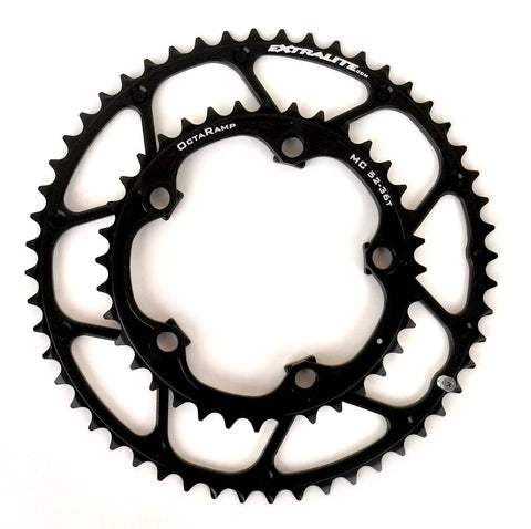 Extralite Mid Compact Octaramp Chainring Set