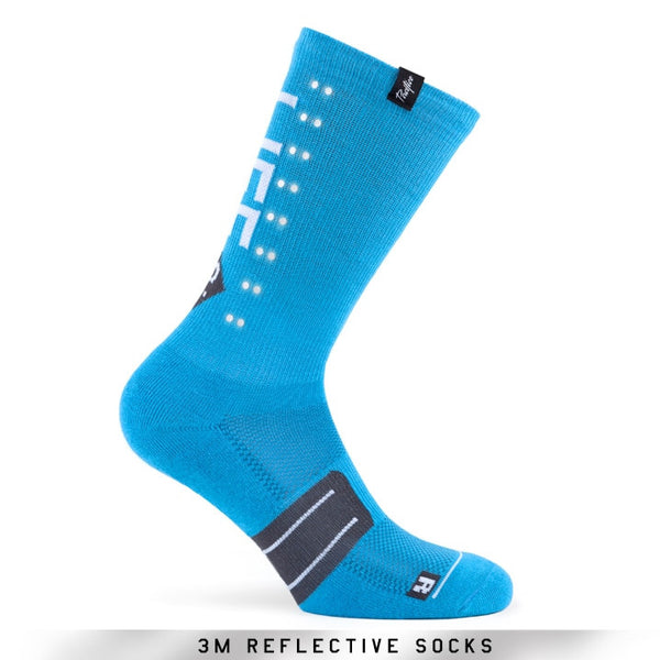 Pacific and Co Socks - Reflective Speed Slow Life - Blue