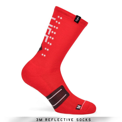 Pacific and Co Socks - Reflective Speed Slow Life - Red