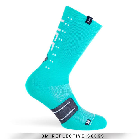 Pacific and Co Socks - Reflective Speed Slow Life - Turquoise