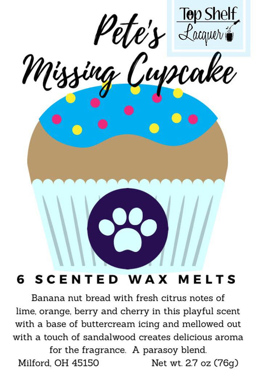 Pete's Missing Cupcake Scented Wax Melts
