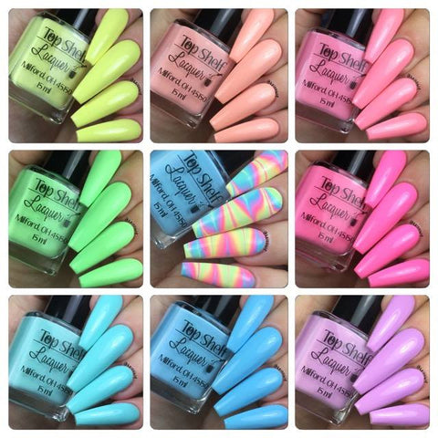 Pastel Brights Collection 2017, Set of 8 bottles