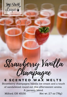 Strawberry Vanilla Champagne Scented Wax Melts