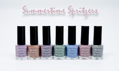 Summertime Spirtzers, June 2016 Collection of 7 Bottles - Top Shelf Lacquer - 1