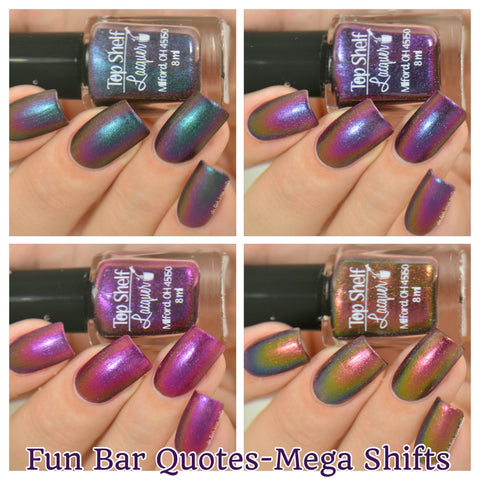Fun Bar Quotes - Mega Shifts Collection, August 2016 (4 bottles) - Top Shelf Lacquer - 1
